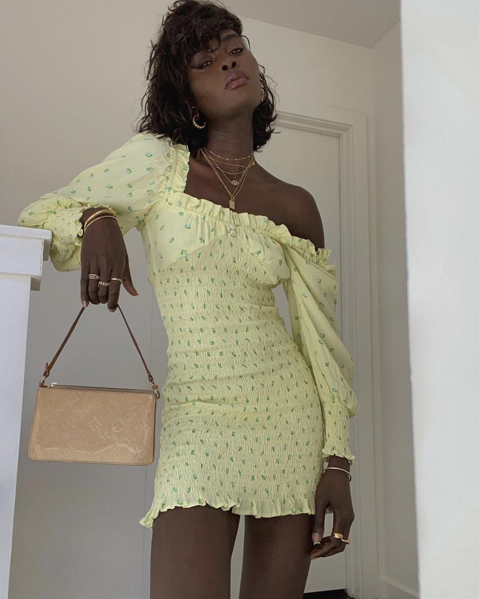 faithfull the brand smocked dress
